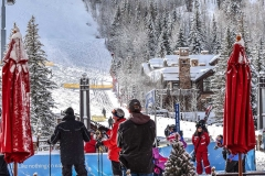 Skiing in to Vail for Lunch