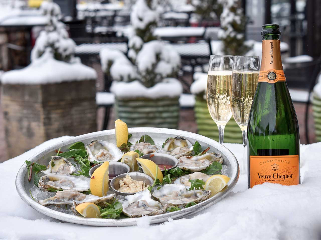 Oysters and Veuve